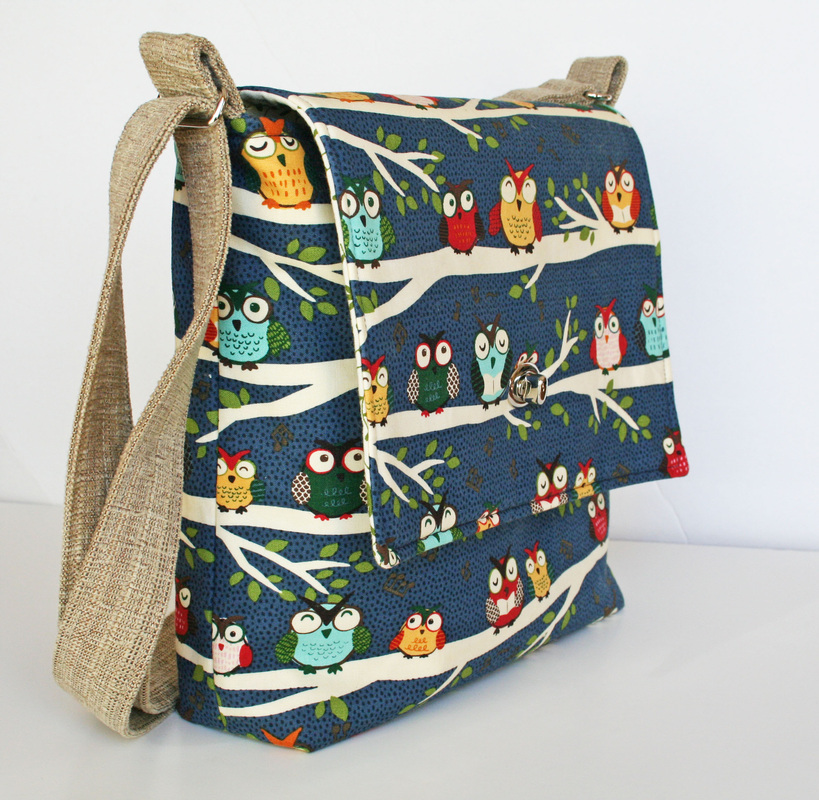 Ahhh, Glorious Messenger Bag of Owls! - sew much cuteness ...